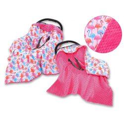 BabyLion Prémium univerzális kétoldalas takaró - Pink - Flamingó