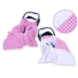 BabyLion Prémium univerzális kétoldalas takaró - Fehér - Rózsaszín  - !! KIFUTÓ !!