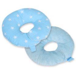 BabyLion Prémium Fej- és nyaktartó párna - Kék csillagok