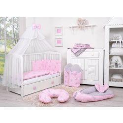 BabyLion Prémium 5 részes ágynemű szett - Rózsaszín nyuszik
