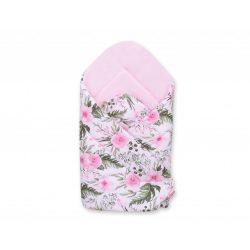 BabyLion Prémium pólya - Rózsaszín - Virágok