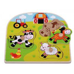 Sun Baby Fa kirakós - Farm állatai