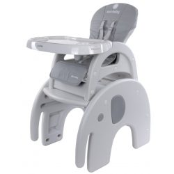 Sun Baby 2az1-ben Etetőszék és kis asztalka - Szürke elefánt