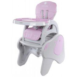 Sun Baby 2az1-ben Etetőszék és kis asztalka - Rózsaszín kutya  - !! KIFUTÓ !!