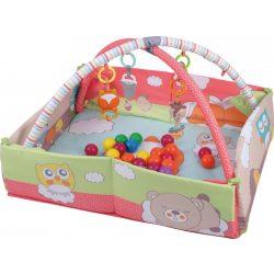 Sun Baby peremes játszószőnyeg labdákkal - róka