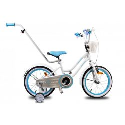 "Sun Baby LoveMyBike BMX bicikli 16"" -  Fehér - Kék  - !! KIFUTÓ !!"