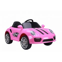 Hoops Elektromos sport autó - Rózsaszín