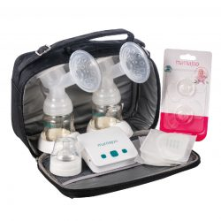 Mamajoo Elektromos dupla mellszívó táskával + BPA mentes cumisüveg