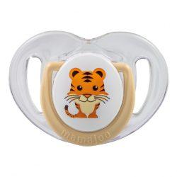 Mamajoo Ortodontikus cumi tárolódobozzal 0+  - Bézs tigris