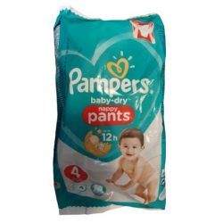 Pampers Baby-Dry Nappy Pants 4 pelenka 9-15kg 4db - 18-as csomag