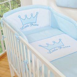 BabyLion Prémium 3 részes ágyneműszett - Little Prince - Kék