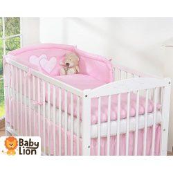 BabyLion Prémium 3 részes ágyneműszett - HH - Rózsaszín