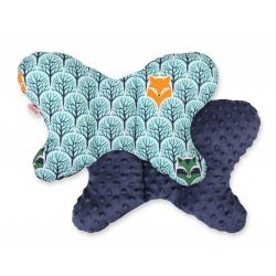 BabyLion Prémium Minky pillangó párna - Menta erdő