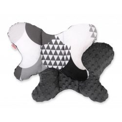 BabyLion Prémium Minky pillangó párna - Fekete-Fehér