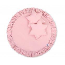 BabyLion Prémium Textil játszószőnyeg - párnákkal - Rózsaszín