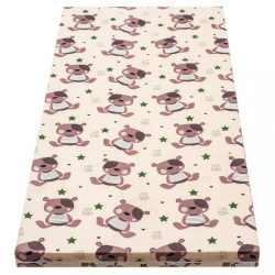 Gyerek matrac New Baby 120x60 hab-kókusz bézs mintákkal