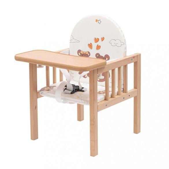Bükkfa etetőszék New Baby  Victory - természetes