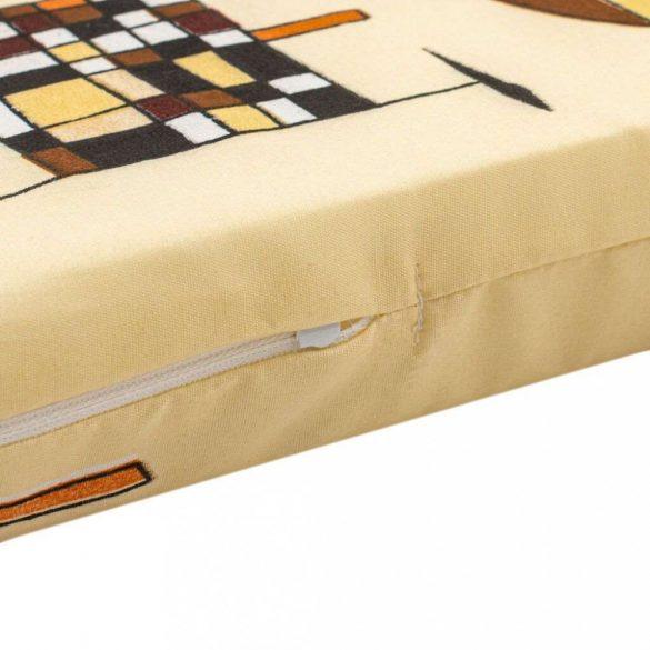 Gyerek habszivacs matrac New Baby 120x60 sárga - különféle minta