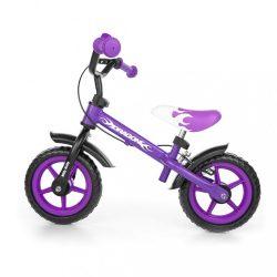 Gyerek futóbicikli Milly Mally Dragon fékkel lila