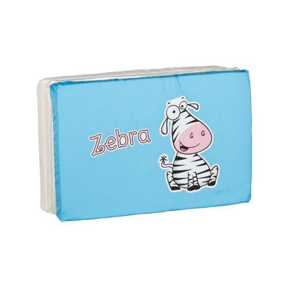 Összerakható matrac kiságyba CARETERO Zebra szürke