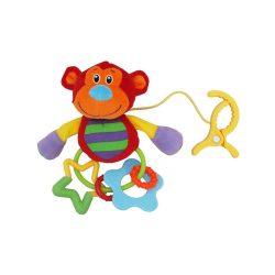 Plüss játék csörgővel Baby Mix Majom