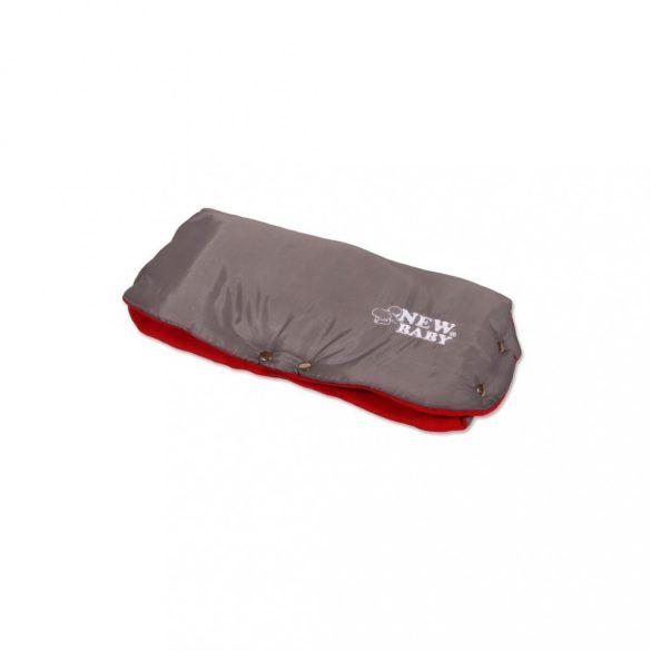 Kézmelegítő babakocsira Classic Fleece szürke - piros