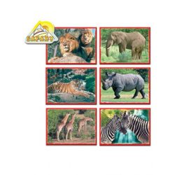 Kocka kirakó 12 darab Afrika