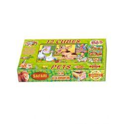 Kocka kirakó 12 darab Kis kedvencek