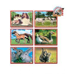 Kocka kirakó 12 darab Házi állatok
