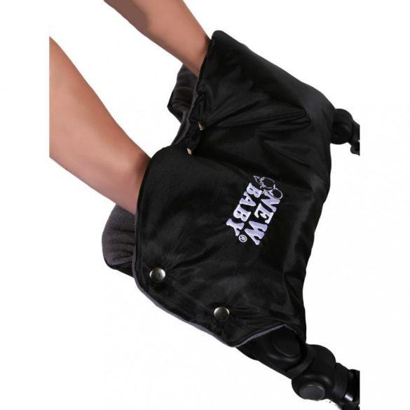 Kézmelegítő babakocsira Classic Fleece fekete/lila
