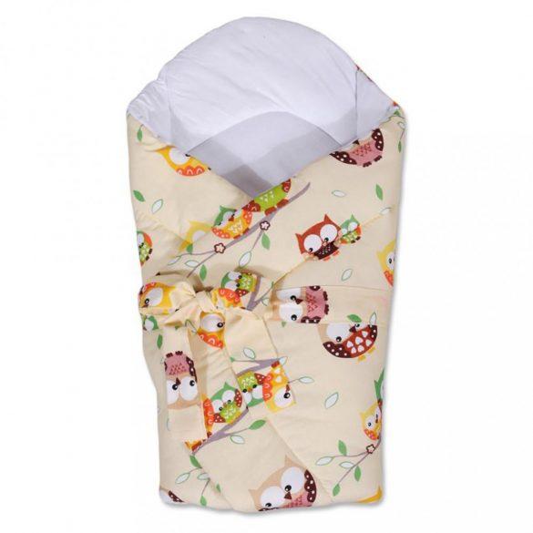 Pólya kókusz merevítéssel és masnival New Baby bézs bagollyal
