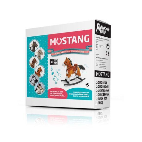 Hintaló dallammal Milly Mally Mustang sötét barna