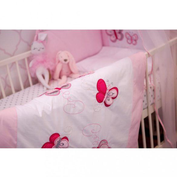 2-részes ágyneműhuzat Belisima Pillangó 100/135 rózsaszín
