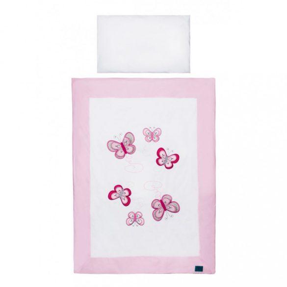 5-részes ágyneműhuzat Belisima Pillangó 100/135 rózsaszín