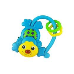 Gyermek zenélő csörgő Baby Mix majmocska kék