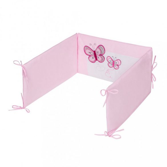 Háromrészes ágyneműgarnitúra Belisima pillangó 90/120 rózsaszín