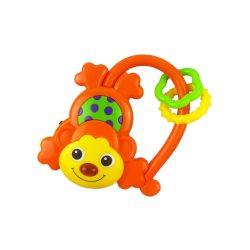 Gyermek zenélő csörgő Baby Mix majmocska narancssárga