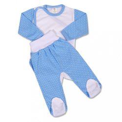 Kétrészes együttes New Baby Pöttyös kék