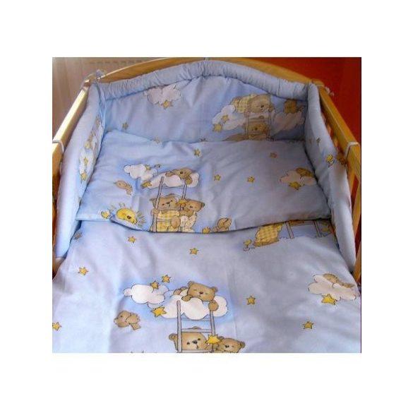 Háromrészes ágyneműgarnitúra New Baby 90/120 cm kék macis
