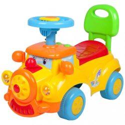 Gyerek jármű Baby Mix Boldog Vonat sárga