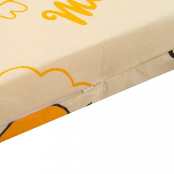 Gyerek habszivacs New Baby 120x60 narancssárga - különféle minta