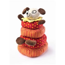 Fejlesztő plüss játék Sensillo kutyus piramis