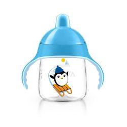 Bájos itatópohár Avent Pingu 260 ml kék