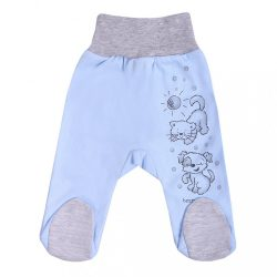 Csecsemő lábfejes nadrág New Baby Barátok kék
