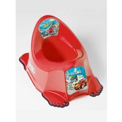 Zenélő gyerek csúszásmentes bili  Autók piros