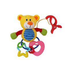 Plüss játék csörgővel Baby Mix maci