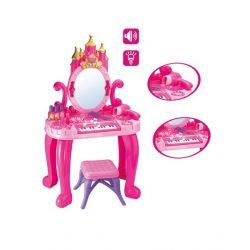 Gyermek fésülködő asztal zongorával és székkel Bayo + 13 db tartozék