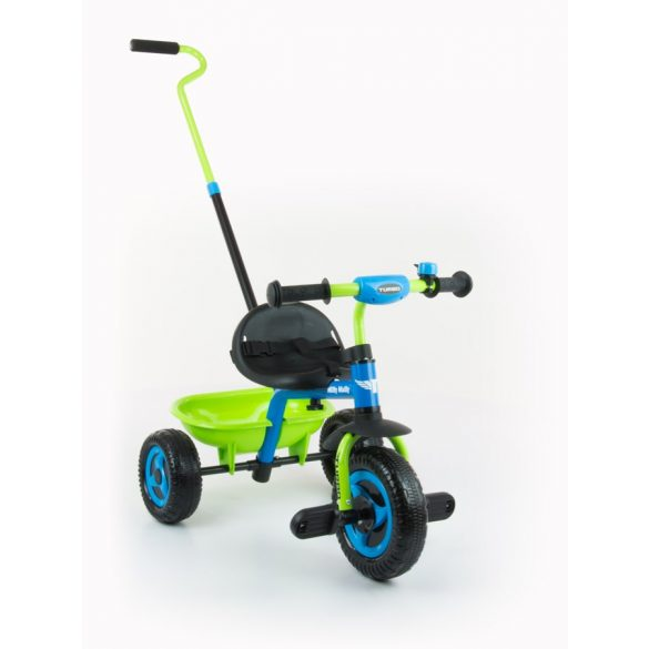 Gyerek háromkerekű bicikli Milly Mally Boby TURBO blue-green