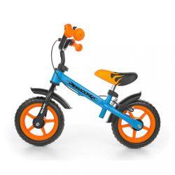 Gyerek futóbicikli Milly Mally Dragon fékkel narancssárga - kék