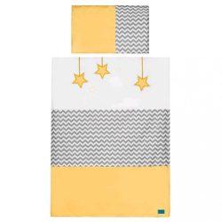 5-részes ágyneműhuzat Belisima Csillag 90/120 sárga